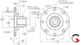 Geometric Dimensioning & Tolerancing (GD&T) of a Part at Jesse Garant Metrology Center